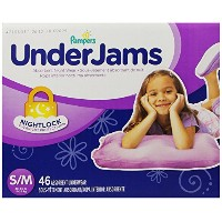 Pampers UnderJams Absorbent Nightwear Size 7, Big Pack Girl, 46 Count by Pampers