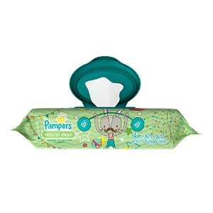 Pampers Natural Clean Wipes Travel Pack 64 Count by Pampers