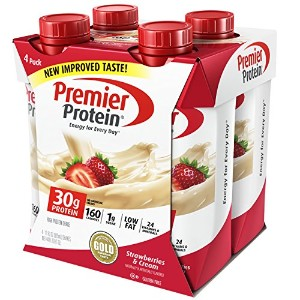 Premier Protein 30g Protein Shakes, Strawberries & Cream 11 Fluid Ounces by Premier Protein