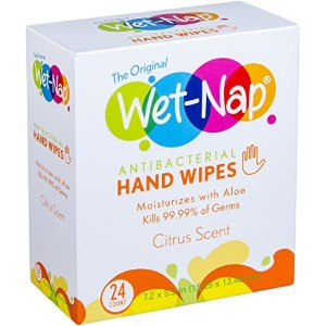 Wet-Nap The Original Anti-Bacterial Wipes Packet, Citrus, 24 Count by Wet-Nap