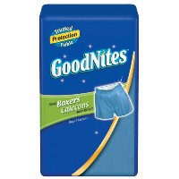 GoodNites Boxers, Boys, Large/Extra-Large, 11-count (Pack of 4) by GoodNites