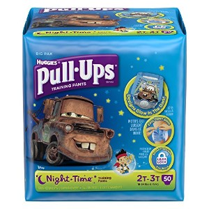 Huggies Pull-Ups Night Time Training Pants for Boys, 2T-3T, 48 Count (Pack of 2) by Pull-Ups