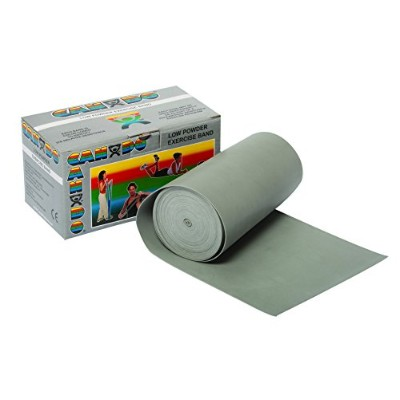 CanDo? Low Powder Exercise Band - 6 yard roll - Silver - xx-heavy