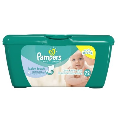 Pampers Baby Fresh Wipes Tub 72 Count by Pampers