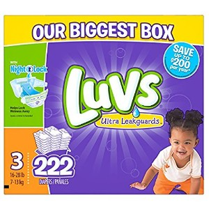 Luvs Ultra Leakguards Diapers, One Month Supply, Size 3, 222 Count by Luvs