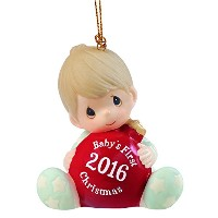 Precious Moments、クリスマスギフト、赤ちゃんの最初クリスマス2016、ベビーBoy、Bisque Porcelain Ornament , # 161006 by Precious...