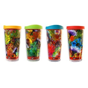 Insulated tumblers-setの4-with lid-hotまたはcold-home学校office-perfect gift-moojoi Tumblersのセット4–...