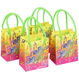 Happy Birthday Mini Gift Bag Party Favors (4/Pkg) by Beistle