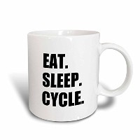 3dローズInspirationzStore Eat Sleepシリーズ – Eat Sleepサイクル – Passionate About Cycling – 自転車Enthusiast...