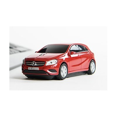 [Cassette Car Mouse] Mercedes Benz A-Class メルセデスベンツ Aクラス ワイヤレスマウス Jupiter Red (レシーバつき)
