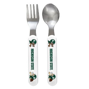 Baby Fanatic Fork and Spoon Set, Michigan State University by Baby Fanatic