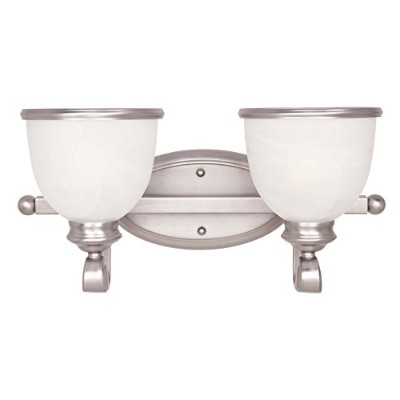 Savoy House Willoughby 4-light Vanityバーピューター8で – 5779 – 4-69 2-Light 8-5779-2-69 1