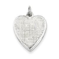 Iceカラット925スターリングシルバーEngraveable Heart Patterned Front Back Disc Engravable Fineジュエリーギフトセットレディースハート