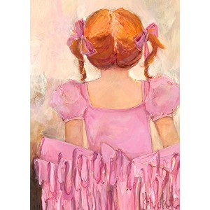 """Oopsy Daisy Fine Art for Kids Angelicバレリーナレッドヘアキャンバス壁アートby Kristina Bass Bailey 10 x 14"""" NB23504"""