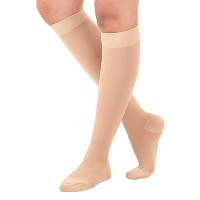 Made in USA - Surgical Opaque Knee-Hi Firm Support Closed Toe 20-30mmHg Graduated compression...