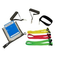 CanDo? Adjustable Exercise Band Kit - 4 band (yellow, red, green, blue)