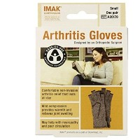 IMAK Compression Arthritis Gloves, Original with Arthritis Foundation Ease of Use Seal, Small by...