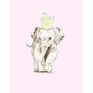 """Oopsy Daisy Fine Art for Kids Ellie Elephantキャンバス壁アートbyアンナ・バーネット 14 x 18"""" NB22705"""