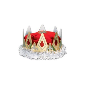 Beistle 66111-b 12パックRoyal Queen 's Crown レッド 66111-R