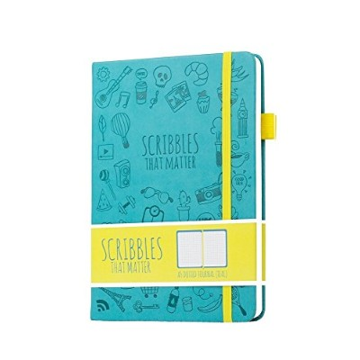 Scribbles That Matter (Iconic version) A5サイズ ドット方眼罫 (Teal) [並行輸入品]