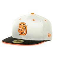 San Diego Padres MLB New Era Deez Neonホワイト/ブラック/オレンジ59 Fifty Fitted Hatキャップ ホワイト