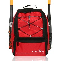 Athletico Youth Baseball Bat Bag–バックパックfor野球、ソフトボールティーボール&機器& Gear for Boys & Girls | Holds Bat...