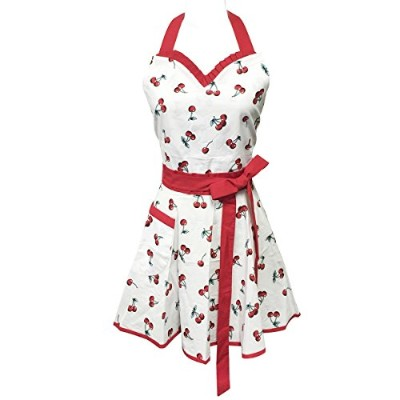 (Sweet Cherries) - Wrapables Adjustable Flirty Hostess Apron, Sweet Cherries