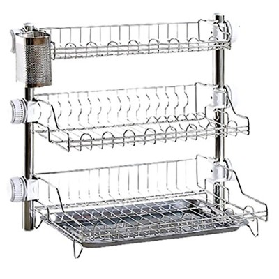 Tof Stainless Steel 3 Tier Kitchen Rack with Spoon holder & Plate Rack トーフステンレススチール3段キッチンラック...