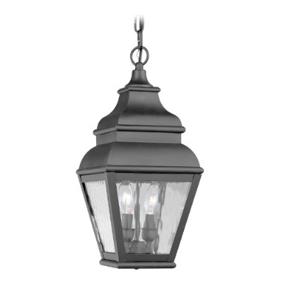 Livex Lighting 2604-04 Exeter 2-Light Outdoor Chain Hang, Black by Livex Lighting
