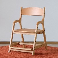 ISSEIKI 学習チェア 北欧 テイスト イス 子供 椅子 キッズ AIRY DESK CHAIR (NA) ダイニングチェア リビングチェア 子供 木製 高さ調節 (デスクチェア)