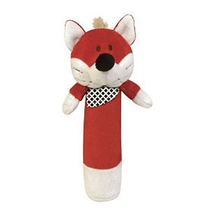 Stephan Baby Plush Velour Squeaker Toy, Red Fox by Stephan Baby