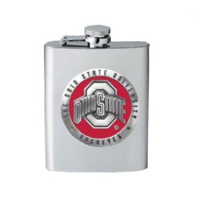 Ohio State Buckeyes Flask w/ Red Accent by Heritage Pewter [並行輸入品]