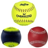 Fastpitchトレーニングボールバンドル: Rawlings / Worth特大ソフトボール、Rawlings / Worth 8.5オンスヘビーボール、、ProNine 10オンスWeighte...