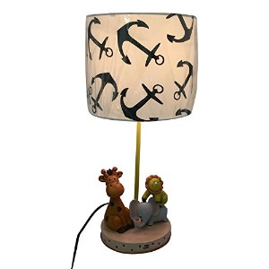 Kid 's Lamp with Animals withライオン、ゾウ、キリン、Great for Kid 's部屋