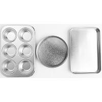 Easy Oven Bake Cake Pan Set Includes Cupcake Pan Square Pan and Round Pan by Quadrapoint