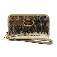 (マイケルコース)MICHAEL KORS 財布 長財布 Phone Case Wristlet 35S6MELZ3Z PALE GOLD [並行輸入品]