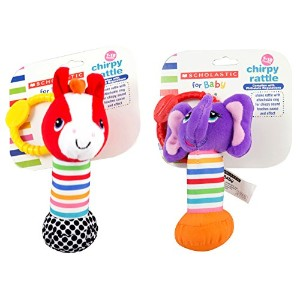 Scholastic Baby Rattle, Styles Vary, by Scholastic