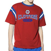 NBA YouthインセットShoulder Short Sleeve Pieced Tee S レッド