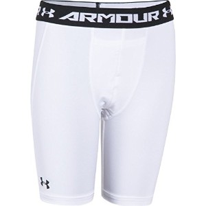 Under Armour HeatGear Armour Boys ' Fitted Shorts–LONG ホワイト