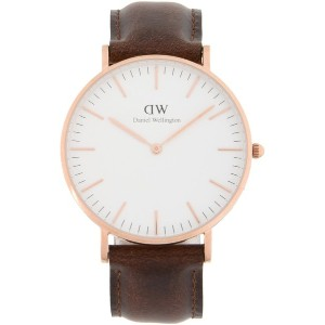 レディース DANIEL WELLINGTON 0511DW CLASSIC BRISTOL WATCH ROSE GOLD 36MM 腕時計 ホワイト