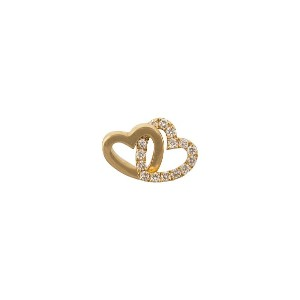 Loquet Diamond Linked Heart Charm ネックレス - メタリック