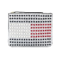 Hilfiger Collection Tommy Icon Pearl Flag クラッチバッグ - メタリック