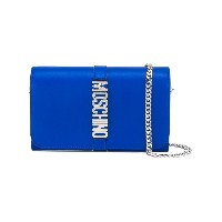 Moschino Letters チェーン付き財布 - ブルー