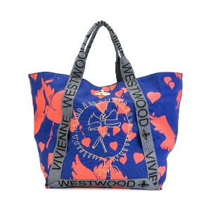 Vivienne Westwood Anglomania バードプリント トートバッグ - ブルー