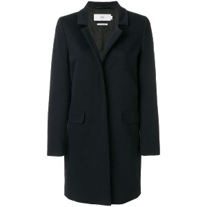 Closed concealed buttoned coat - ブルー