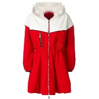 Moncler Gamme Rouge フーデッド ダウンジャケット - レッド