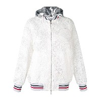Moncler Gamme Rouge 刺繍 ジップアップパーカー - ホワイト