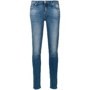 7 For All Mankind ウォッシュド スキニージーンズ - ブルー