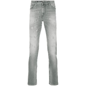 7 For All Mankind ダメージ ジーンズ - グレー