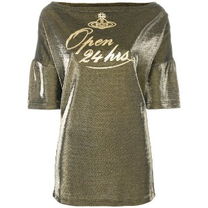 Vivienne Westwood Open 24 Hrs プリントTシャツ - メタリック